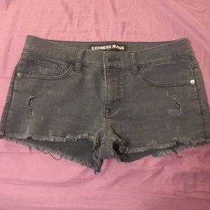 Black express jean shorts